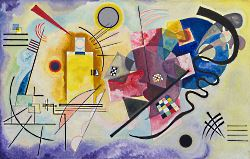 Vassily Kandinskij - giallo, rosso, blu del 1925
