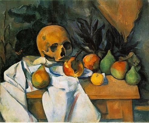 Natura morta con cranio - Paul Cézanne