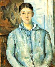 Madame Cézanne in blu - Paul Cézanne