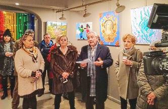 Il presidente AELA Dott. Vincenzo D'Angelo inaugura la mostra Firenze Sogna