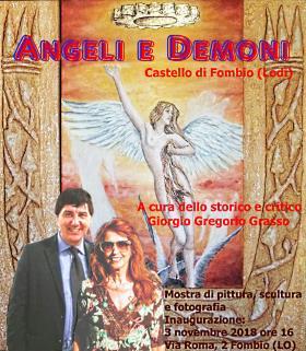 Mostra Angeli e Demoni al castello di Fombio