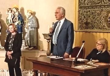 Il presidente del Consiglio Regionale, la presidente ANLA e la curatrice della mostra
