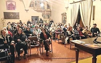 Il pubblico durante l'inaugurazione della mostra