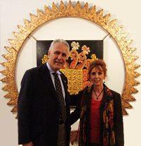 Anna Maria Guarnieri con il presidente del consiglio di Firenze dott. Egenio Giani