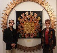 Anna Maria Guarnieri con il critico d'arte dott. Sergio Pesce