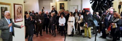 Il presidente Eugenio Giani all'inaugurazione nello spazio ICLAB