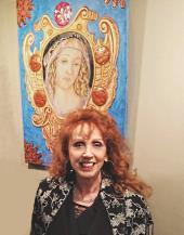 Anna Maria Guarnieri con la sua opera