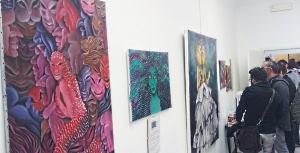 Un momento della mostra d'arte alla Corte di Felsina
