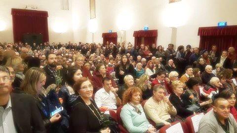 Il teatro delle scuderie medicce affollato per il Premio Michelangelo Buonarroti