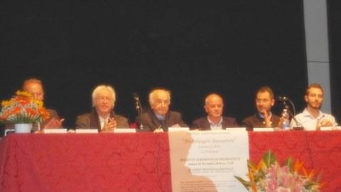 Alcuni componenti della giuria del Premio Michelangelo Buonarroti