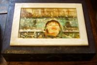 La scatola eseguita dall'artista Andrea Gelici che si è aggiudicato il primo premio