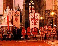 I simboli delle autorità fiorentine in Santa Croce
