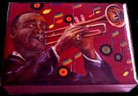 Louis Armstrong dipinto da Anna Maria Guarnieri