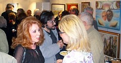 Anna Maria Guarnieri e Mara Faggioli durante l'inaugurazione
