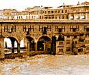 il ponte vecchio durante l'alluvione del 1966