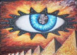 Chi tocca voi, tocca la pupilla dei miei occhi - opera dell'artista Anna Maria Guarnieri