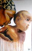 Mother's work in progress by Abiola Wabara