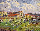 Il giardino di primavera - Opera dell'artista Pier Francesco  Ramero