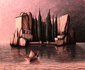 L'isola dei morti - Opera dell'artista Tommaso Andreini