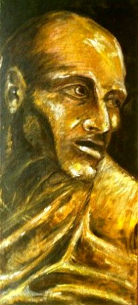 Il mendicante - Opera dell'artista Edri Rama