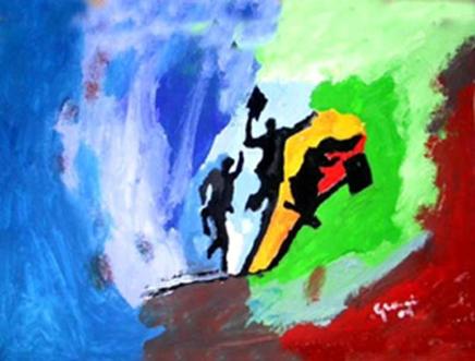 Allegria 5 - Opera dell'artista Gianni Tanda