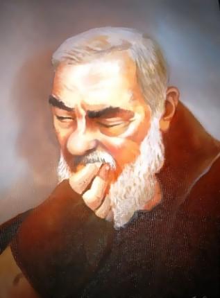 Padre Pio - Opera dell'artista Giuseppe Cascella