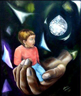 Lacrime di cristallo - Opera dell'artista Fabrizia Tocchini