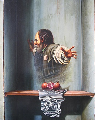 Umanità 80x100 - Opera dell'artista pittore Francesco D'Eliai