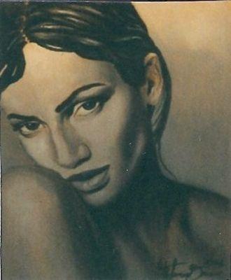 Donna in grigio - Opera di Stefania Bruno